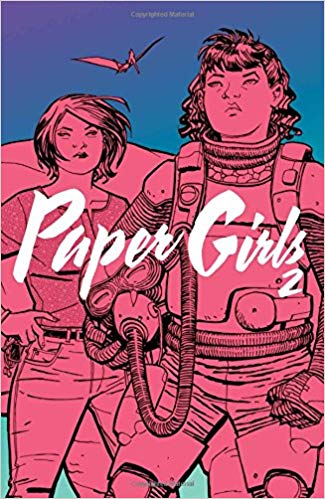 Paper Girls Volume 2 by Vaughan, Brian K. (writer) and Chiang, Cliff (artist) and Wilson, Matt ( colours) and Fletcher, Jared K. (letters)