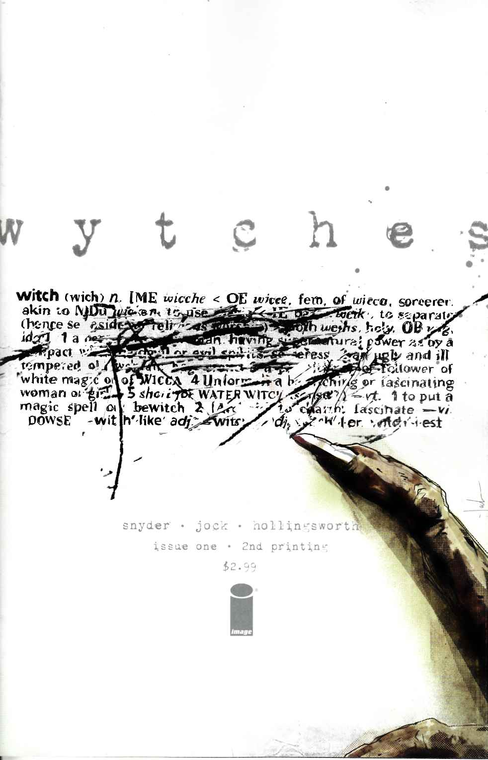Wytches Issue 1 Second printing by Scott Snyder and Jock