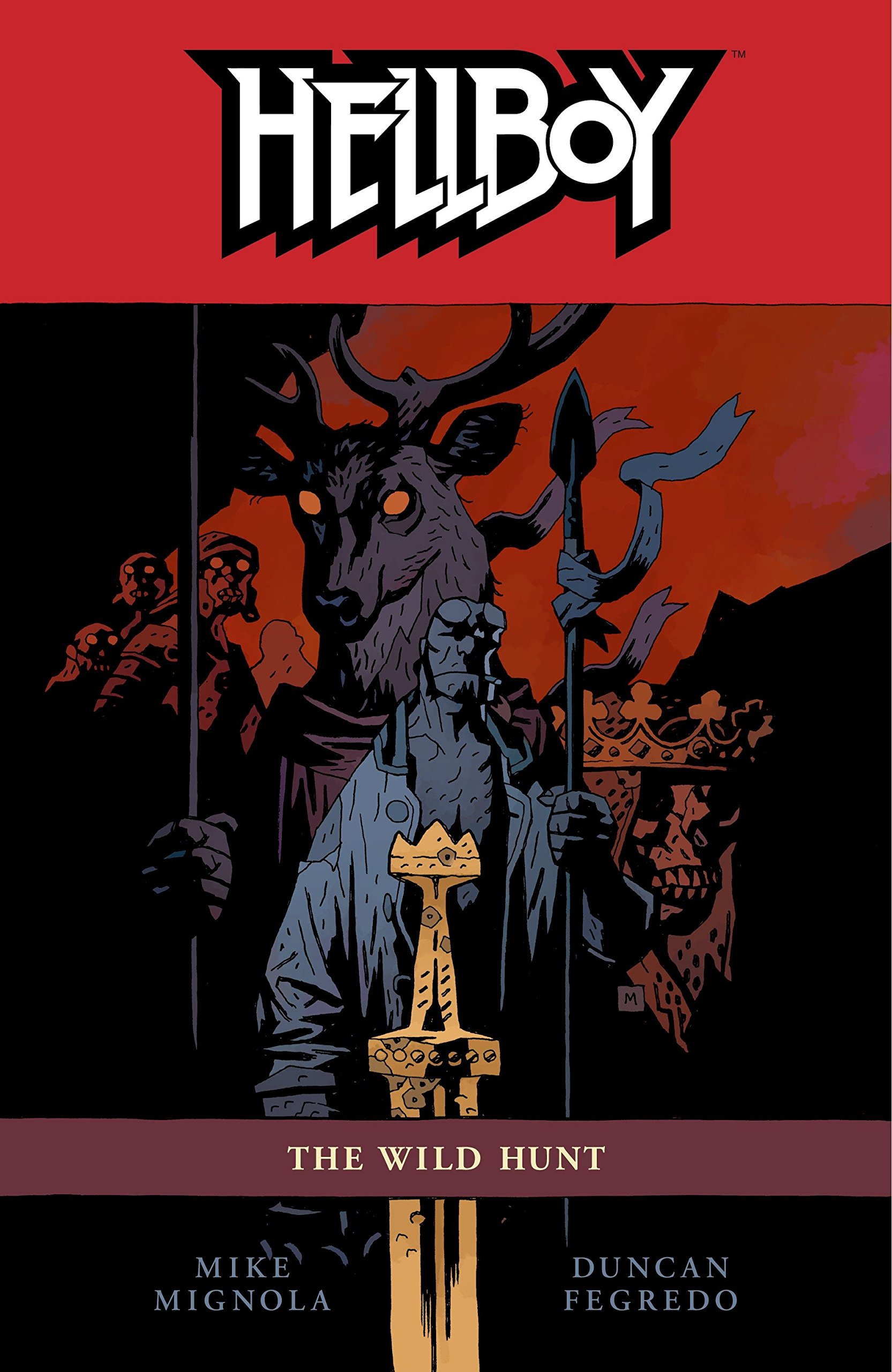 Hellboy vol 9: The Wild Hunt story by Mike Mignola.
