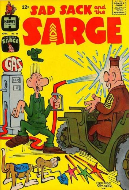 Sad Sack and the Sarge No. 36 by Harvey Hits