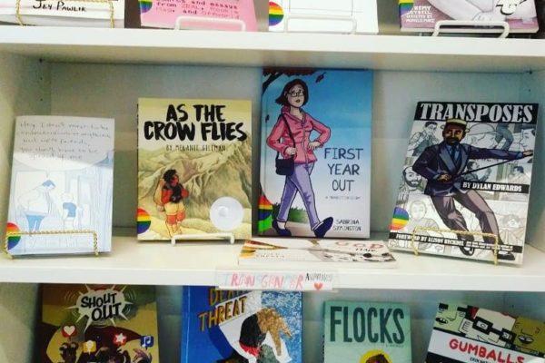 Transgender Awareness Month library display