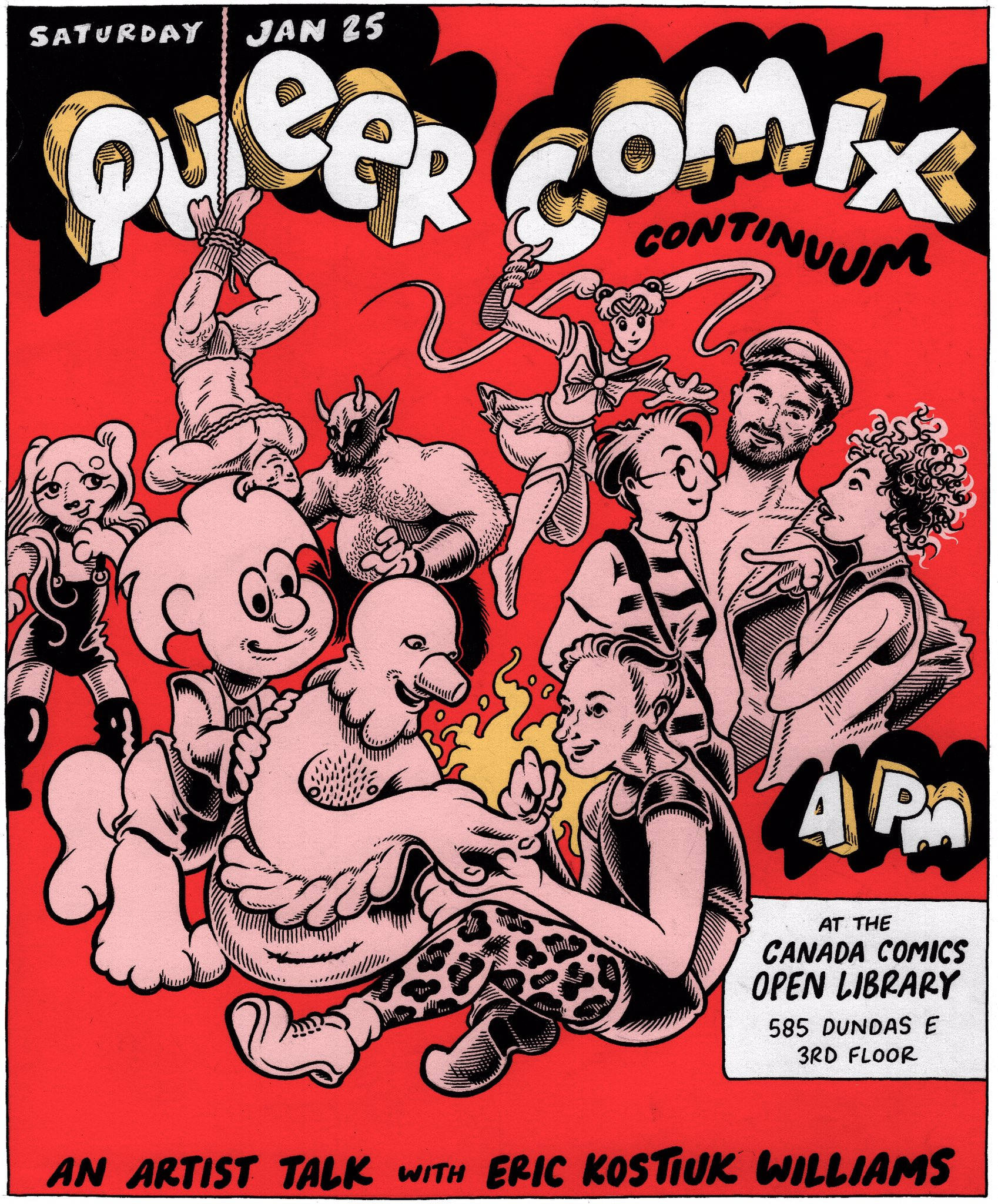 Queer Comix Continuum: an artist talk with Eric Kostiuk WIlliams