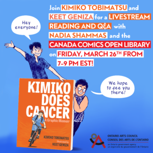 Cover image and promo poster for Kimiko Does Cancer live reading