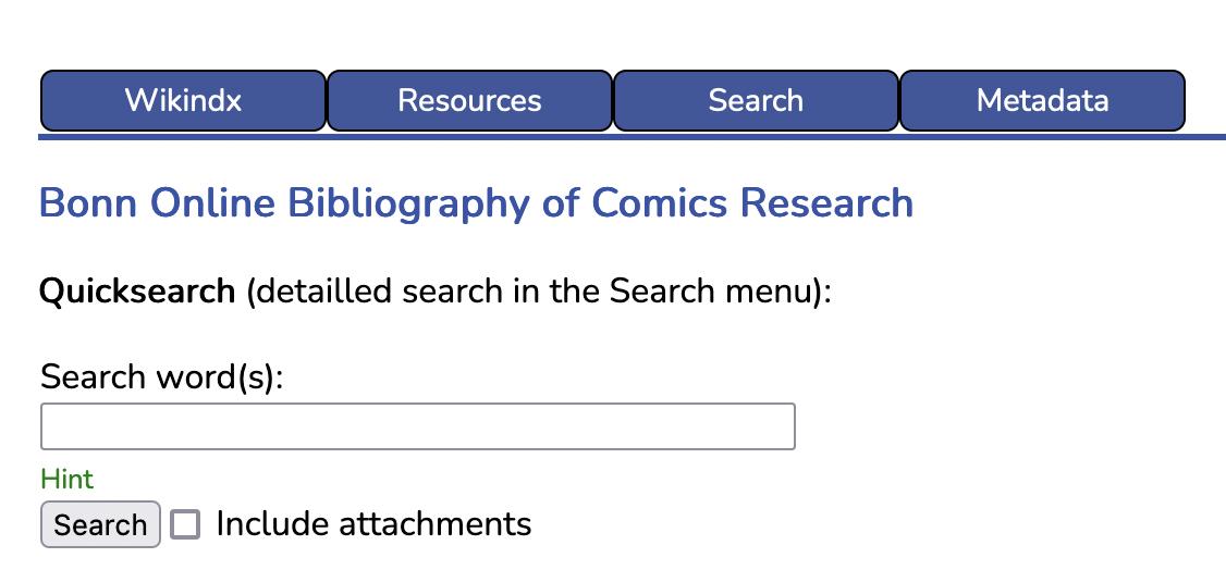 Bonn Online Bibliography of Comics Research